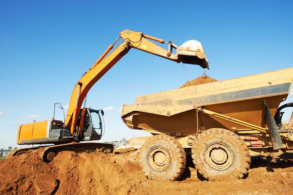 wheel loader excavator and tipper dumper